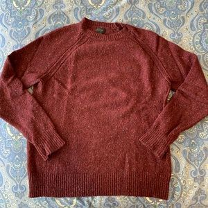 J. Crew Men's Burgundy Donegal sweater